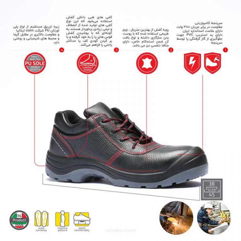 کفش ایمنی مدل Super3M- 289