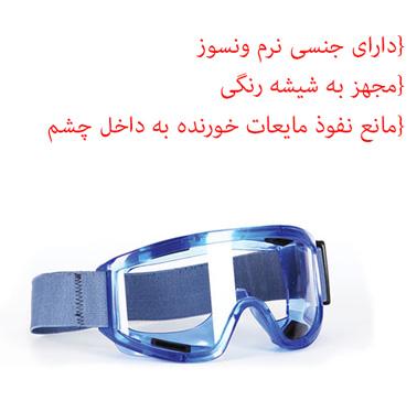 کلاه ایمنی و عینک صنعتی