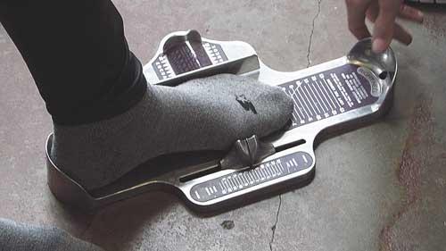 سایز بندی کفش مردانه